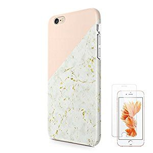 new concept 43ca2 47995 Amazon.com: Gold Marble iPhone 6 6S Case uCOLOR Pink Geometric Dual ...