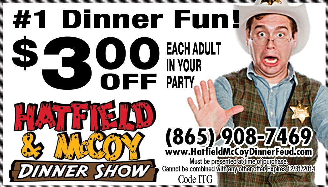 Hatfield Mccoy Dinner Show Coupon And Discount Tickets Hatfield Hatfields And Mccoys Coupons
