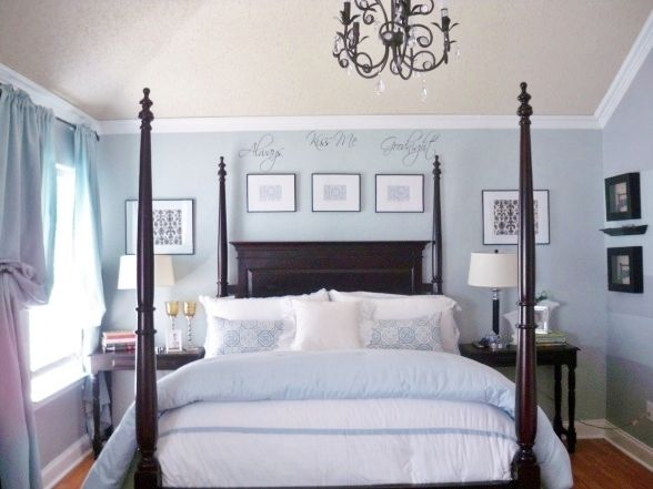 Light Blue With Dark Furniture Blue Master Bedroom Bedroom