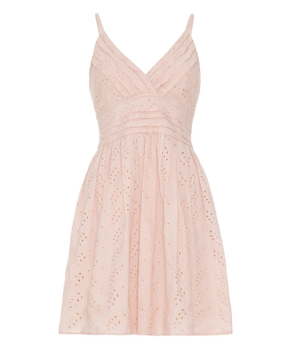Another great find on #zulily! White & Pink Lace Sweetheart Dress by Iska London #zulilyfinds