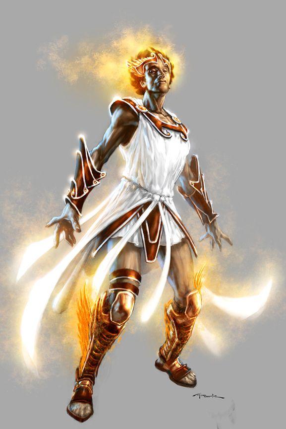 God of War III- Hermes by andyparkart.deviantart.com