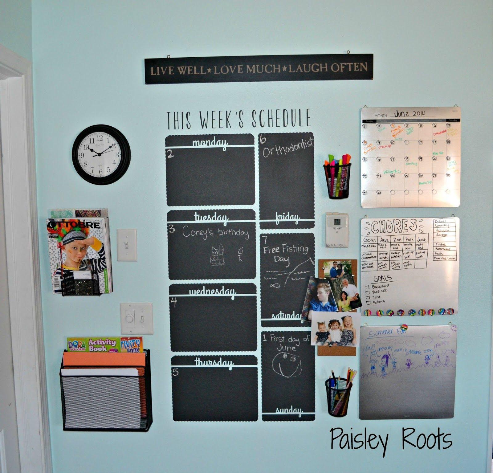 Wallternatives - Week Schedule Chalkboard | Chalkboard vinyl ...