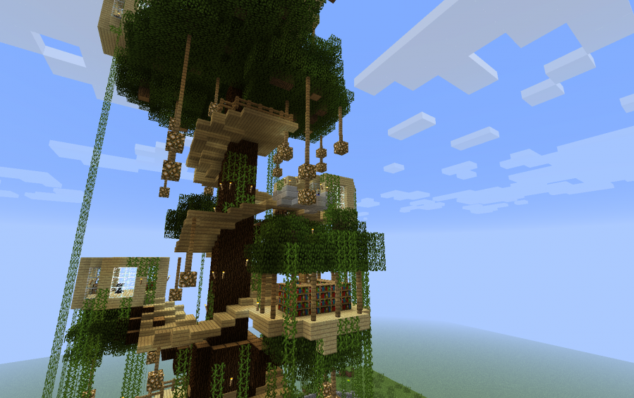 minecraft tree houses minecraft pe tree houses liquidbeefs treehouse