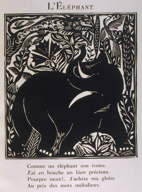 L Elephant In The Book Le Bestiaire Ou Cortege D Orphee By Guillaume Apollinaire Paris Deplanche Editeur D Art 1911 Raoul Dufy Deplanche Guillaume A Elephant Art Raoul Dufy Art Prints