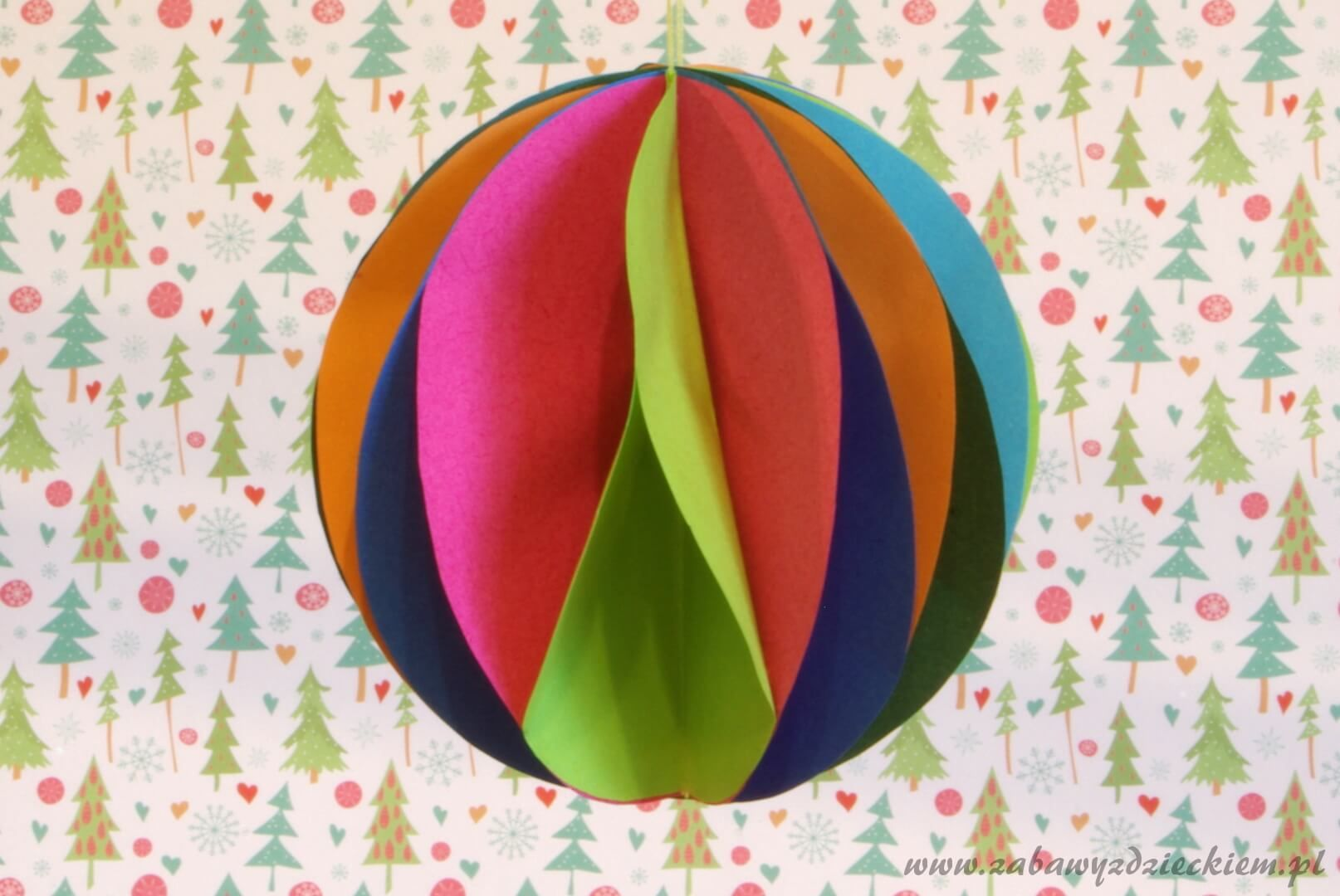Bombka Z Papierowych Kolek Paper Lamp Novelty Lamp Diy