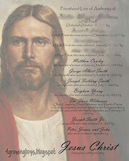 4 Growing Boys Blog Priesthood Line of Authority  Print -  #LDS