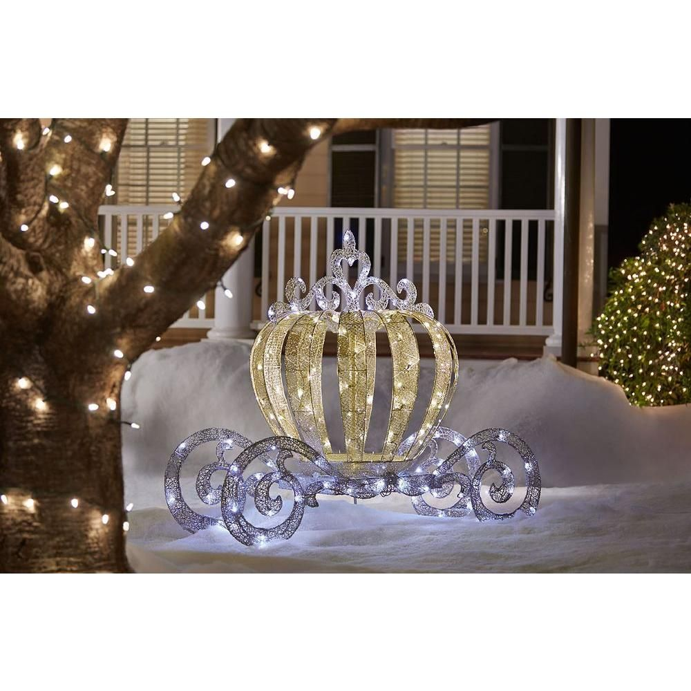 Home Accents Holiday 5 Ft Pre Lit Led Twinkling Carriage