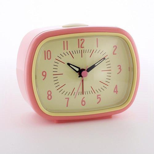 38b611e1517193 Pink Retro Alarm Clock