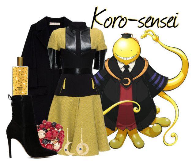 """|| Koro-sensei ~ Assassination Classroom ||"" by freezespell ❤ liked on Polyvore featuring Marni, Lattori, Chico's, Andrea Fohrman, Memo Paris and ALDO"