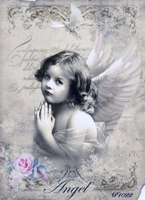 картинки с ангелами для декупажа для печати на принтере тетю днем рождения