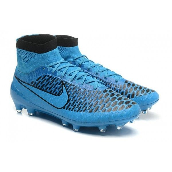 Nike Magista Obra Mens Firm-Ground Football Boots Turquoise Blue Black