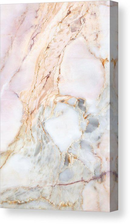 Pale Pink Marble Texture Canvas Print