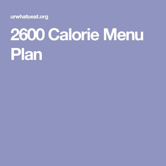 Dieta con 2600 calorias