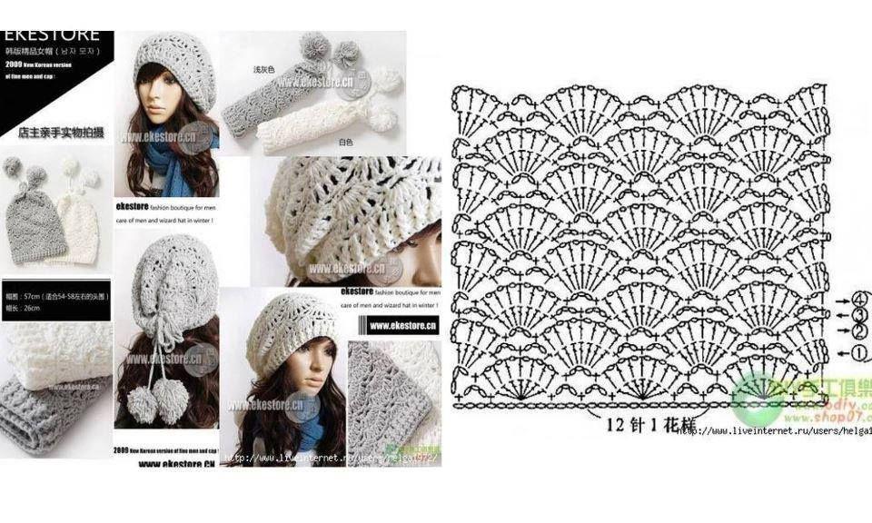 1) Örgü Modelleri | gorros y bufandas | Pinterest | Gorros