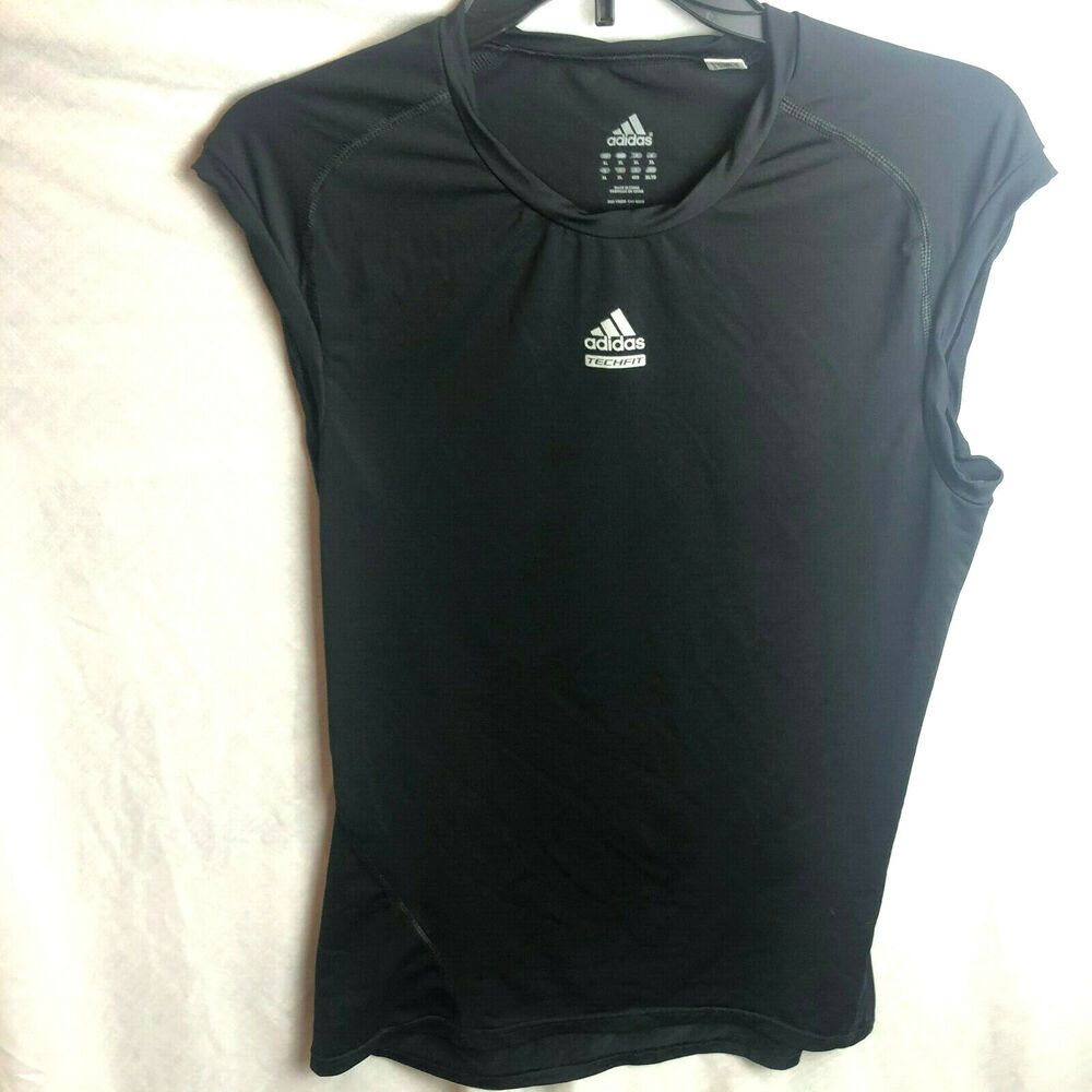 f9de2811266f25 Adidas Tech Fit Sleeveless Shirt Mens XL Black Tank Top  Adidas   ActivewearTank