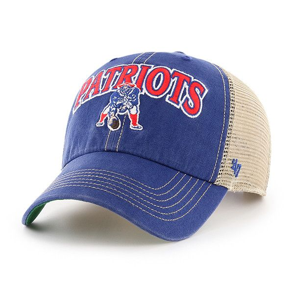 abb94c75 New England Patriots Tuscaloosa Clean Up Vintage Blue 47 Brand Adjustable  Hat