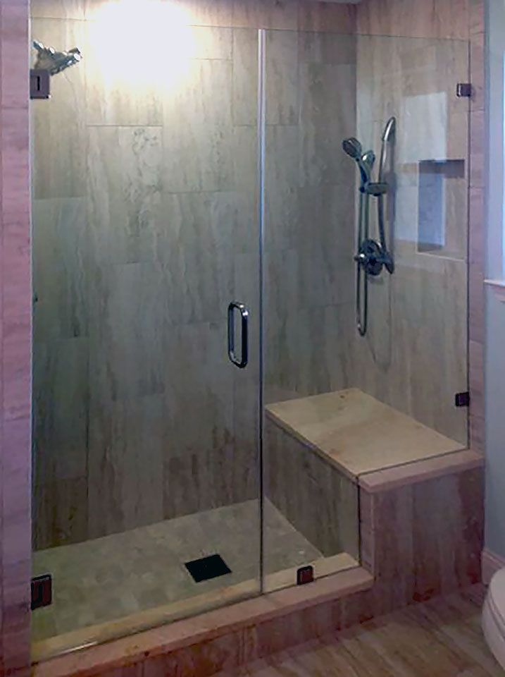 Custom Cut Inline Frameless Shower For The Home Doors And Glass Enclosures