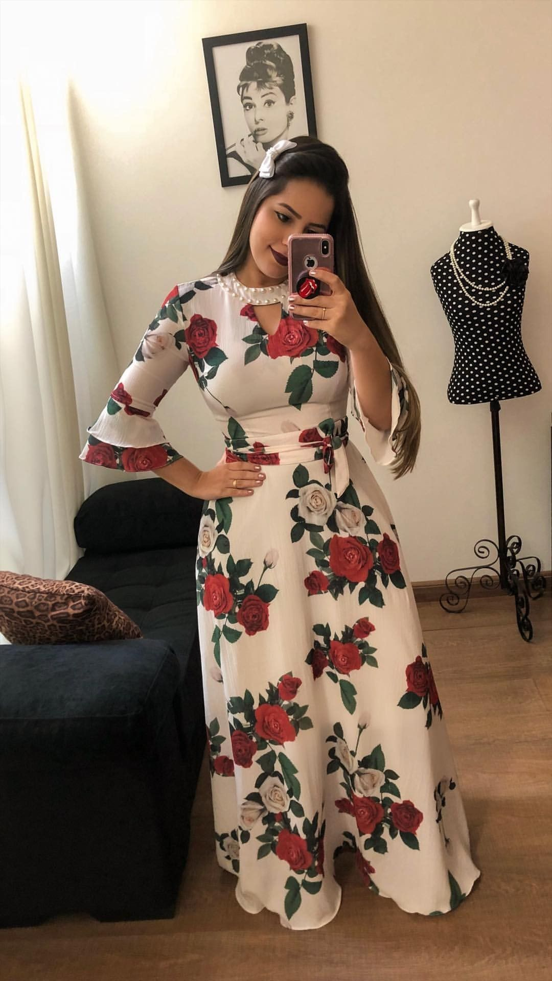 ff1cc4ff9 mustachestore  dress  vestido  estampa  lindo  rosas  flores  floral ...