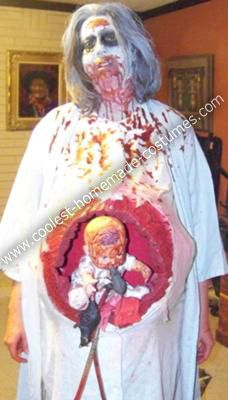 Scary Pregnant Zombie Diy Costume Diy Costumes Zombie Costume Diy Zombie Costume