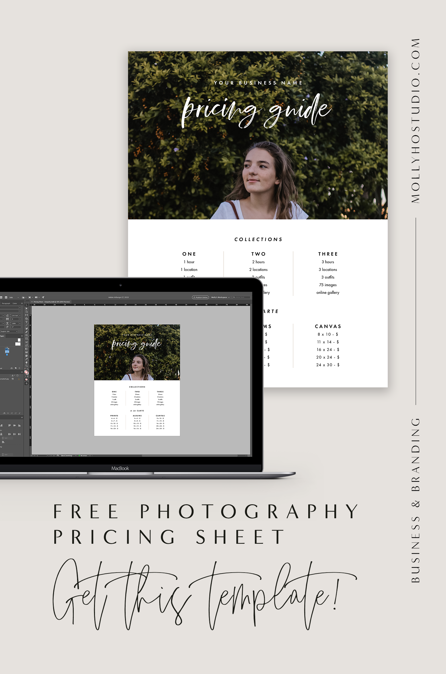 Free Photography Pricing Guide | Marketing Templates for