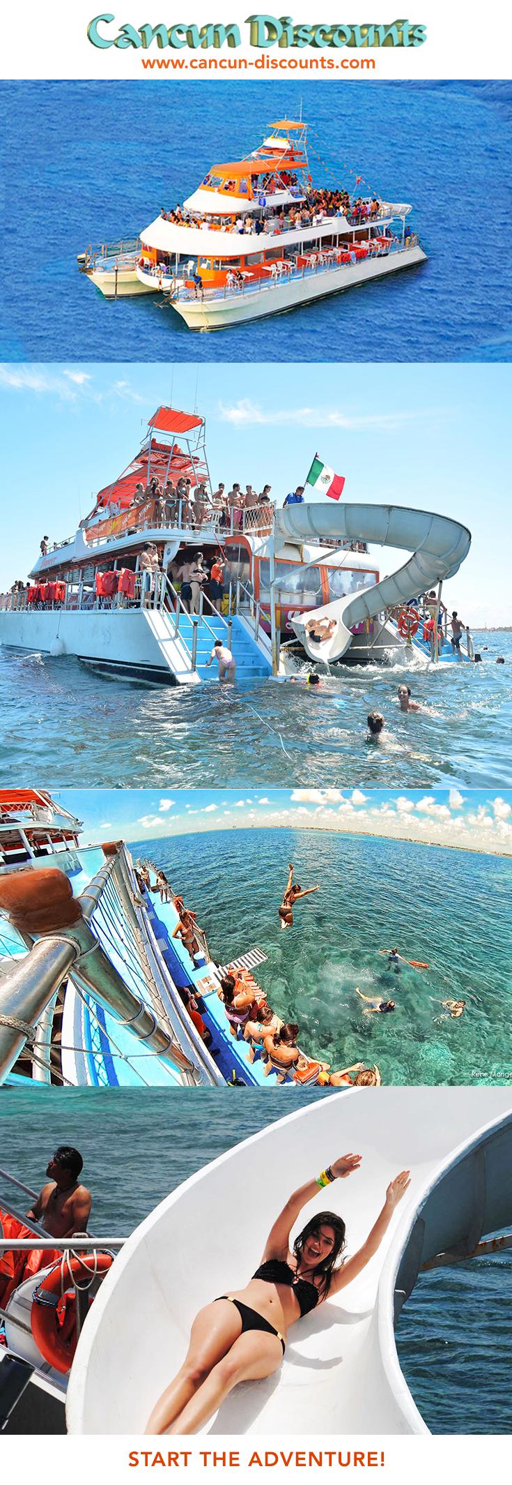 the triple decker dancer catamaran is the only isla mujeres tour rh pinterest com