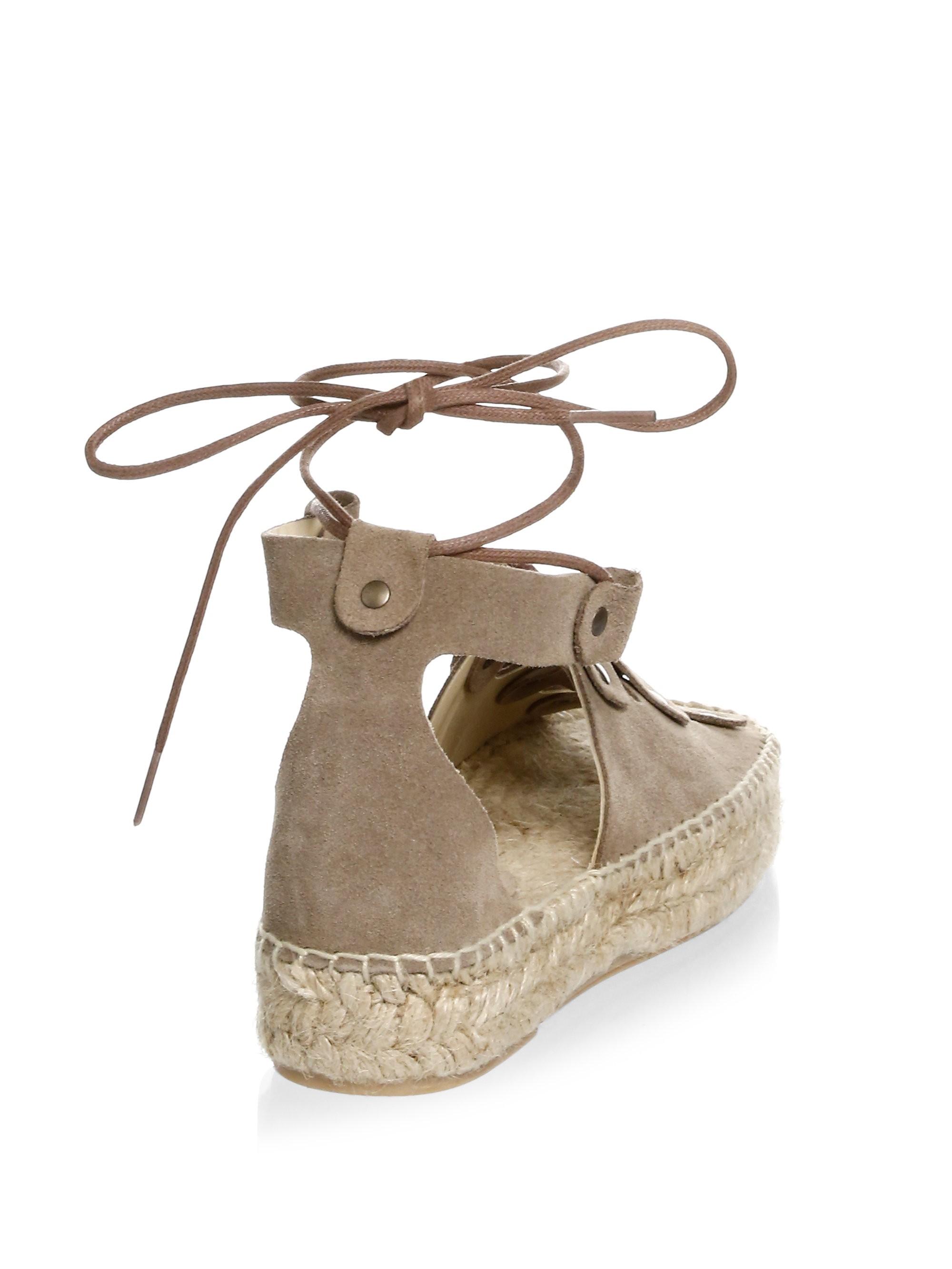 5c3b2861949 Soludos Ghillie Suede Platform Espadrille Sandals - Dove Grey 10