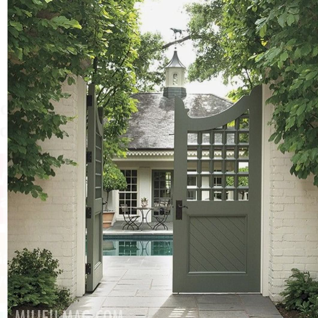 Pin by rebecca vredenburg on home exteriors in garden gates
