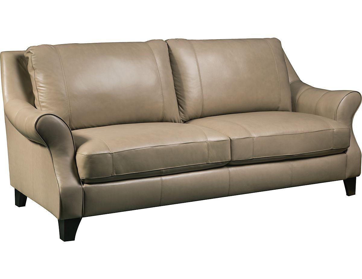 divine 100 genuine leather sofa taupe divinei s the brick rh pinterest com au