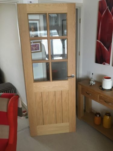Glazed Internal Door 70 X 30 Inches Bevelled Glass Internal Doors