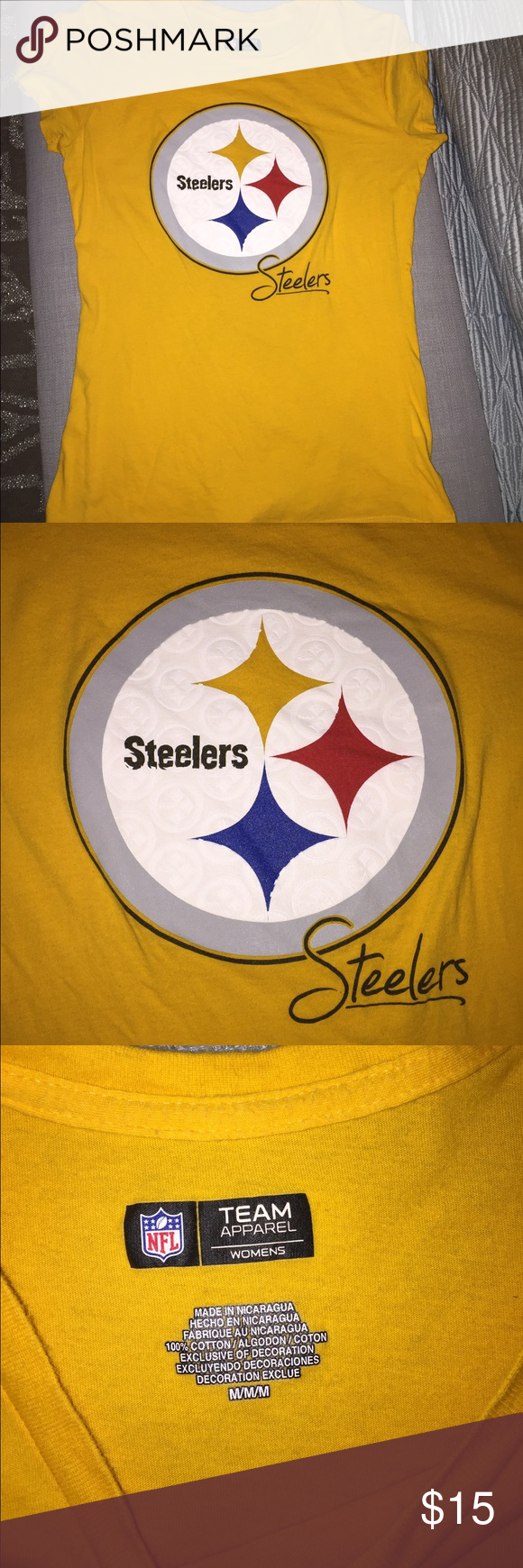 Steelers ladies tree Like new size M soft cotton, NFL Steelers ladies apparel tee. Tops Tees - Short Sleeve