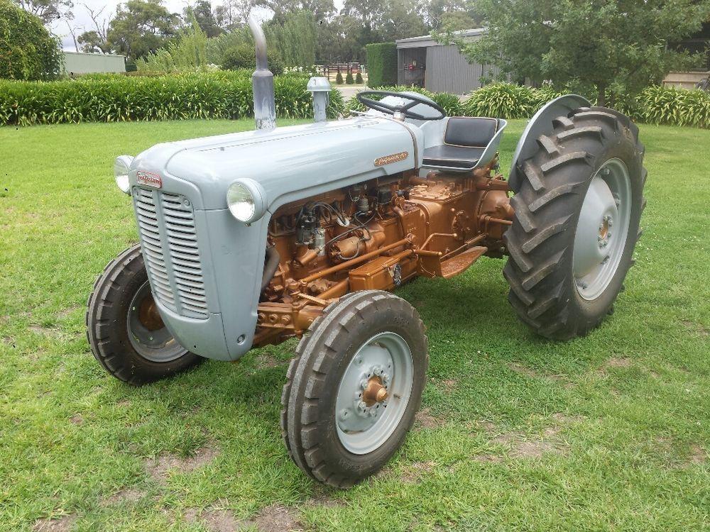 Ferguson 35 grey gold belly fergie tractor old garage