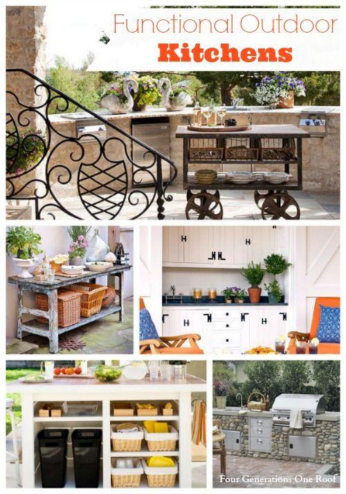 functional outdoor kitchen getting crafty diy outdoor rooms rh pinterest com