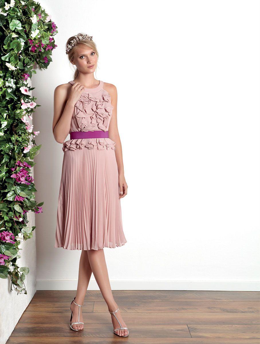 Vestido Pale dogwood falda plisad | cabellos magnificos | Pinterest ...