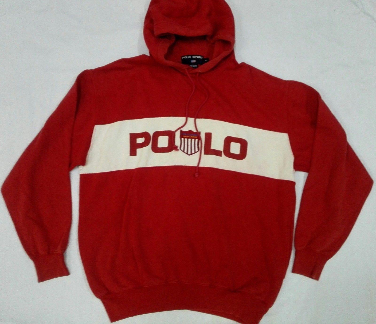 Vtg 90s Polo Sport Ralph Lauren Kswiss Hoodie USA Jacket