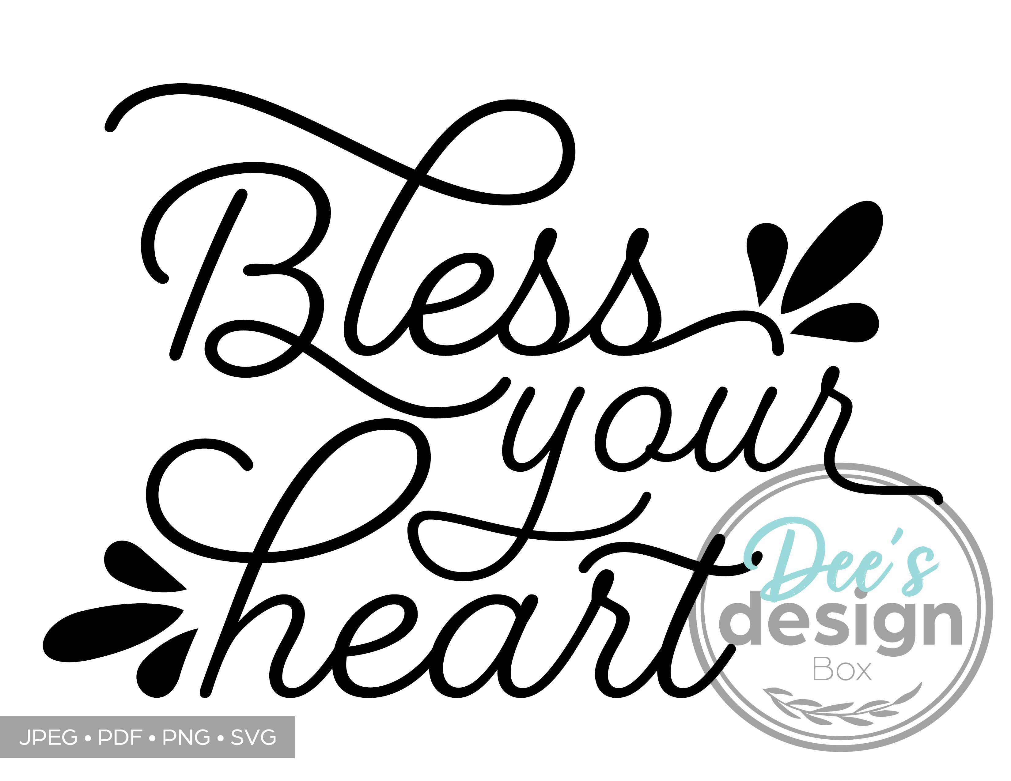 Bless Your Heart Printable Design in 2020 Printable