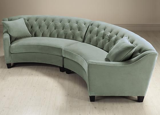riemann curved tufted sectional sofas and loveseats living room rh pinterest ca
