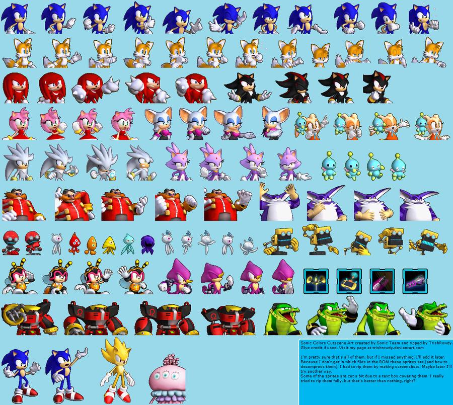 Sonic Colors Cutscene Sprites By Trishrowdy On Deviantart Sonic