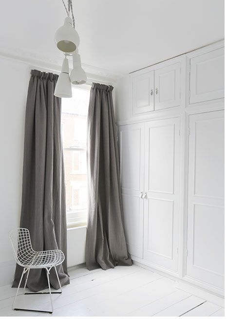 bianco granite linen curtains with pencil pleat heading and blackout rh pinterest com