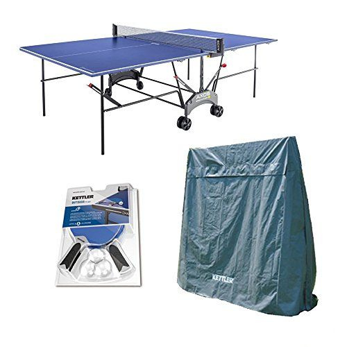 Kettler Outdoor Table Tennis Table - Axos 1 with Outdoor Accessory ...