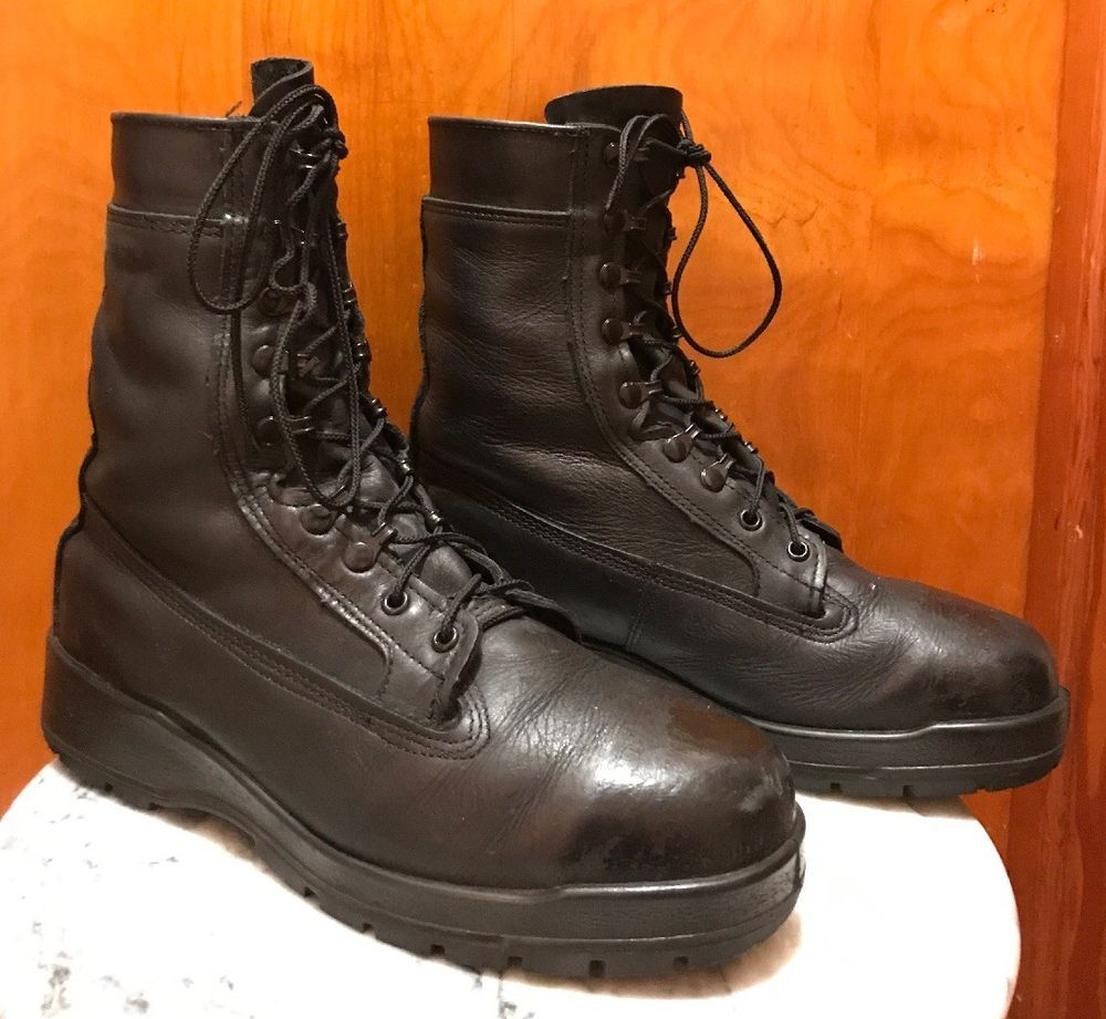 extremely unique buy good lace up in Belleville Boots Men's size 11 Wide Steel Toe Leather 360ST ...