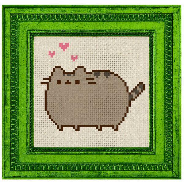 Pusheen Internet cat digital art cross stitch Pattern Kawaii japan ...