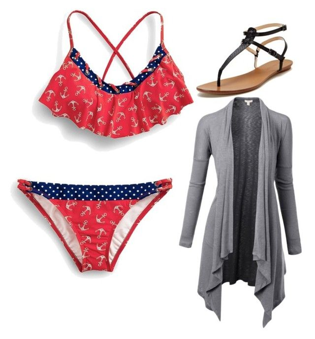 """""""Swimsuit wear"""" by daneajah ❤ liked on Polyvore featuring beauty, Sperry Top-Sider, Maiden Lane and Doublju"""