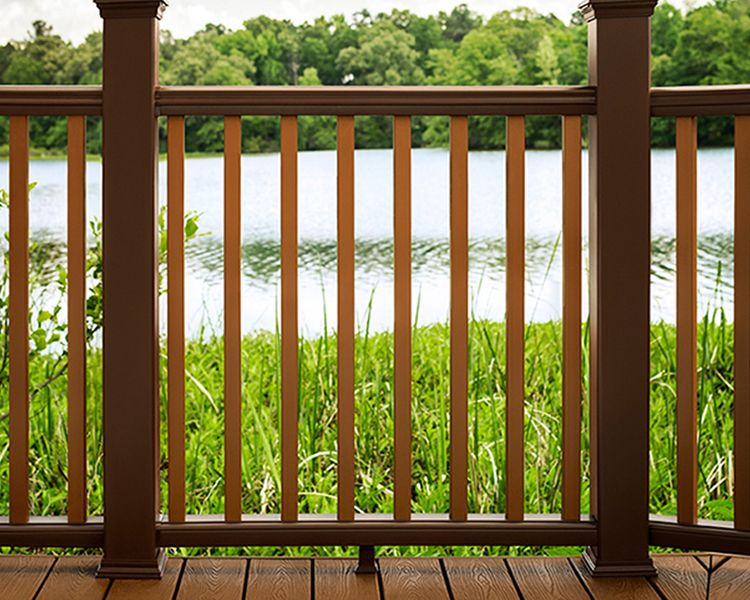 Shop Trex Composite Decking Railing At Home Depot Trex Trex
