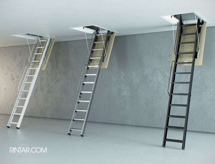 Escaleras Plegables De Altillo En Madera - $ 7.480,00