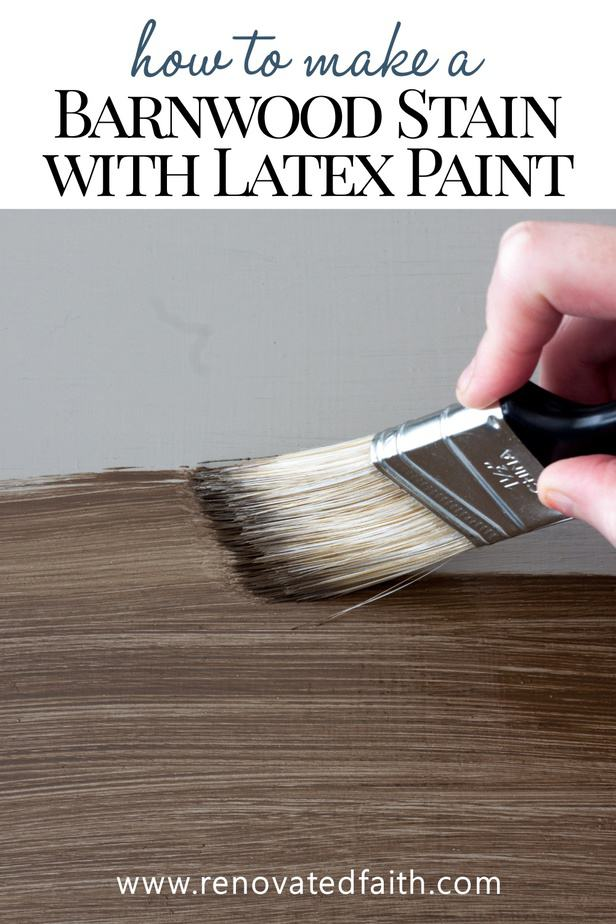 Here's how to stain painted furniture without stripping! This step-by-step tutorial shows you how to faux stain furniture with latex paint. Whether you want something rustic or a dark walnut colored stain, there are several shades to choose from. Faux stain furniture to look like wood. This technique requires no stripping or sanding of the old paint or stain. It's so much easier to use paint as a stain on furniture. I also share when to use paint over chalk paint and how to paint trim to look li