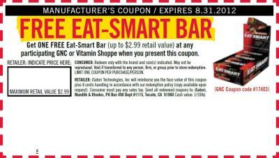 graphic regarding Vitamin Shoppe Printable Coupon known as GNC or Vitamin Shoppe Absolutely free Printable Coupon for a Totally free Take in