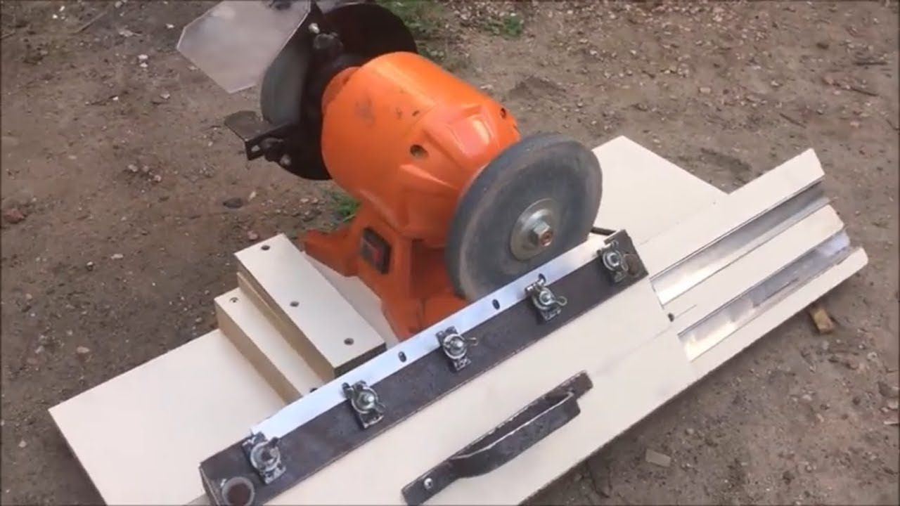 Maquina Para Afilar Guia Casera P Afilar Cuchillas De Cepillo Carpintero Youtube Em 2020 Lixadeira Maquinas