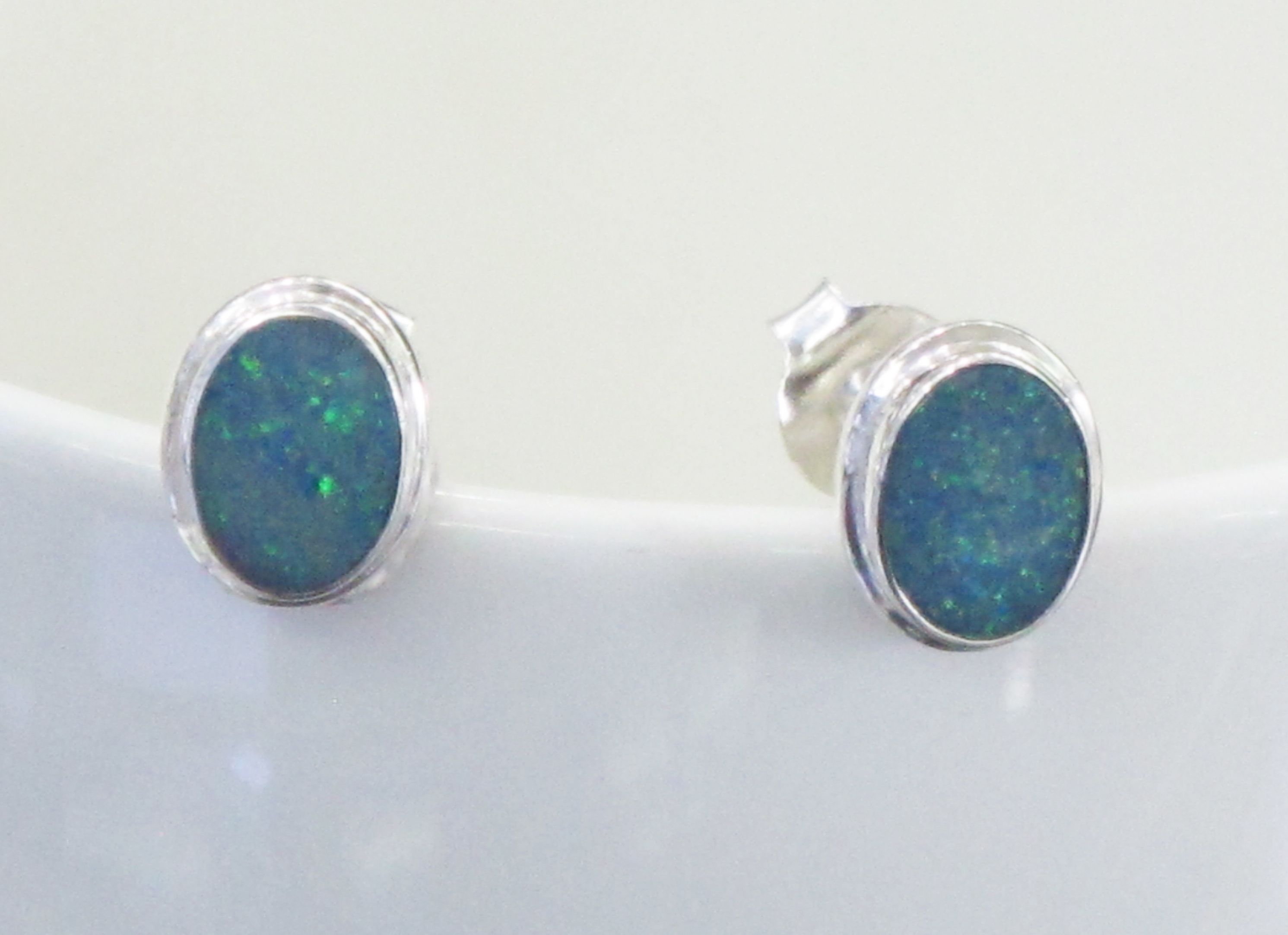 glass blue earrings organic wilkinson turquoise handmade vanilla opal vicky stud product