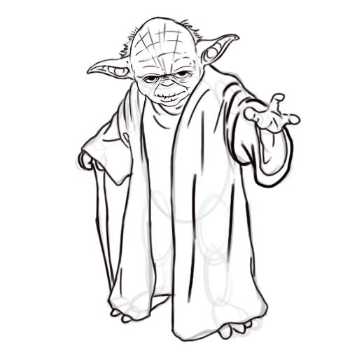 Draw Yoda from Star Wars | coloring page | Pinterest | Star Wars ...