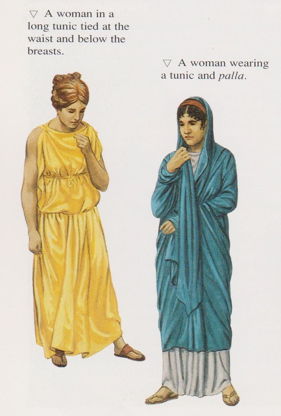 f0e7395b1a5 Ancient Roman Women s Clothing. (Peter Connolly Rome user  Aethon ...